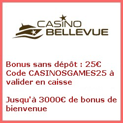 Bellevue casino bonus sans depot