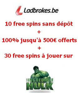 Free spins sur ladbrokes