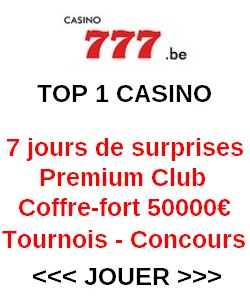 Free spins sur 777.be